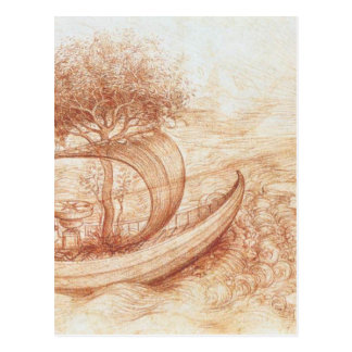 Allegory by Leonardo da Vinci Postcard