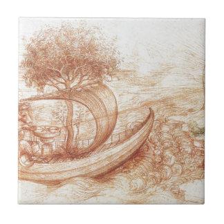 Allegory by Leonardo da Vinci Tile