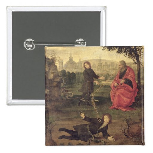 Allegory, c.1485-90 (oil on panel) pinback button