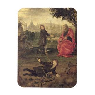 Allegory, c.1485-90 (oil on panel) rectangle magnet