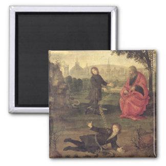 Allegory, c.1485-90 (oil on panel) square magnet