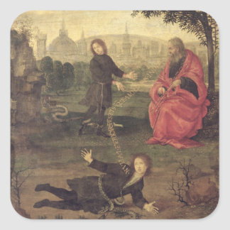 Allegory, c.1485-90 (oil on panel) square sticker