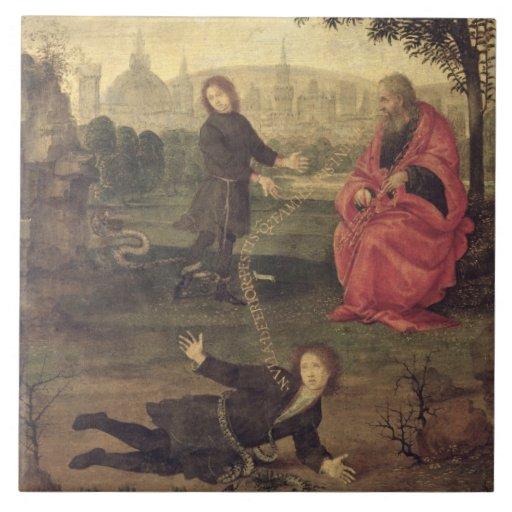 Allegory, c.1485-90 (oil on panel) tiles