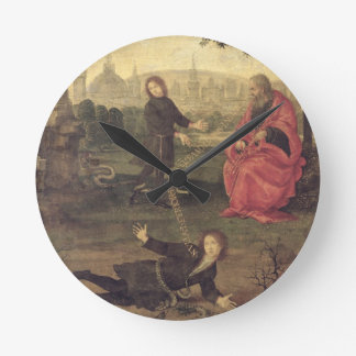 Allegory, c.1485-90 (oil on panel) wall clock