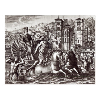 Allegory celebrating postcard