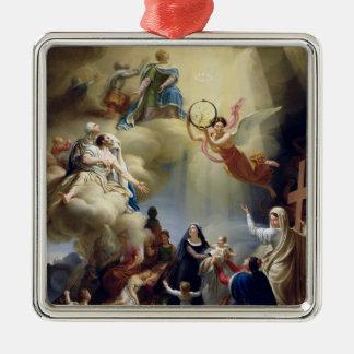 Allegory in Honour of the Birth of Henri de Silver-Colored Square Ornament