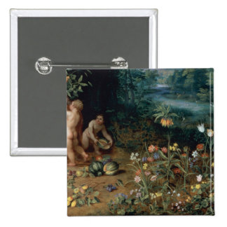 Allegory of Abundance, detail 2 Inch Square Button