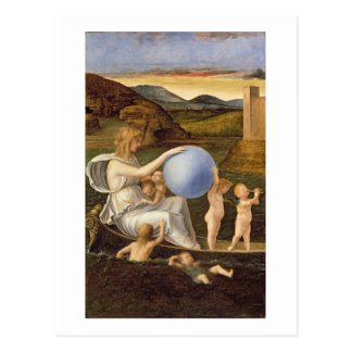 Allegory of Changing Fortune, or Melancholy (oil o Postcard