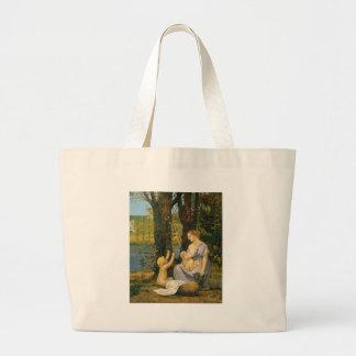 Allegory of Charity by Pierre Puvis de Chavannes Jumbo Tote Bag