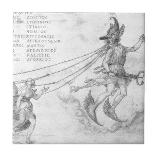 Allegory of eloquence by Albrecht Durer Ceramic Tile