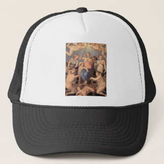 Allegory of Happiness by Agnolo Bronzino Trucker Hat