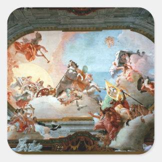 Allegory of Marriage of Rezzonico to Savorgnan Square Sticker
