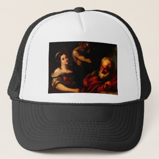 Allegory of Mathematics by Bernardo Strozzi Trucker Hat