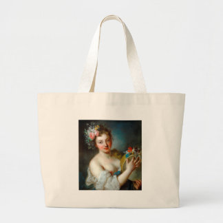 Allegory of Music by Rosalba Carriera Jumbo Tote Bag