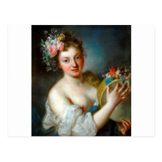 Allegory of Music by Rosalba Carriera Postcard