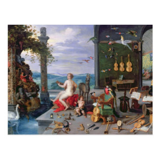 Allegory of Music Postcard