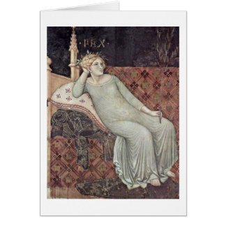 Allegory Of Peace By Ambrogio Lorenzetti Card