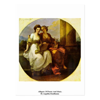 Allegory Of Poetry And Music. By Angelika Kauffman Postcard