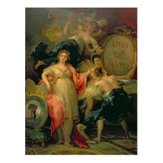 Allegory of the City of Madrid, 1810 Postcard