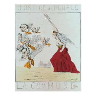 Allegory of the Commune, 1871 Postcard