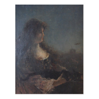 Allegory of the night by Alfred Stevens Postcard