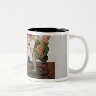 Allegory of the overturning of the throne Two-Tone coffee mug