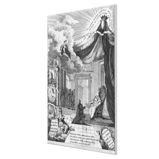 Allegory of the Report Given to Louis XVI Canvas Print