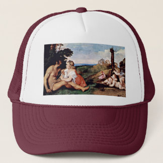 Allegory Of The Three Ages Of Man By Tizian Trucker Hat