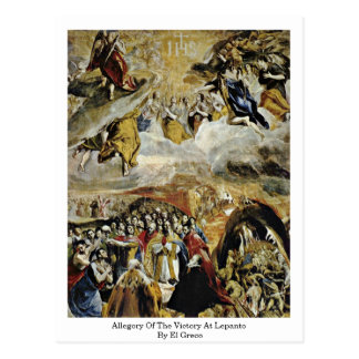 Allegory Of The Victory At Lepanto By El Greco Postcard