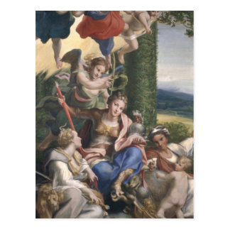 Allegory of the Virtues, c.1529-30 Postcard