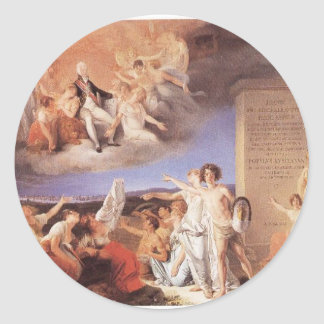 Allegory of the virtues of King João VI by Domingo Round Sticker