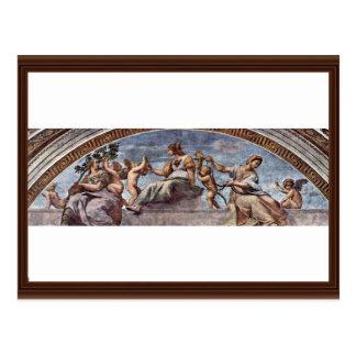 Allegory Of Virtue By Raffael (Best Quality) Postcard