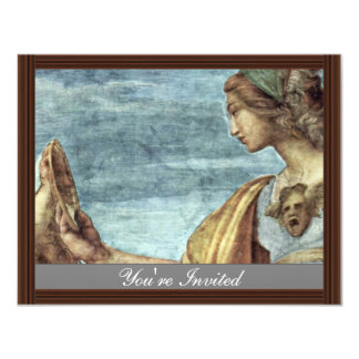 Allegory Of Virtue Detail By Raffael (Best Quality Personalized Invitation