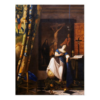 Allegory on Faith by Johannes Vermeer Postcard
