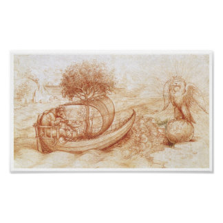 Allegory with a Wolf and Eagle, Da Vinci Print