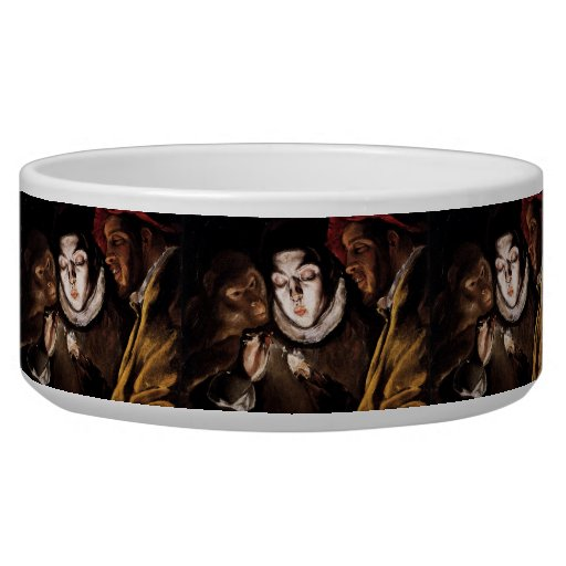 Allegory with Boy Lighting Candle by El Greco Pet Bowl