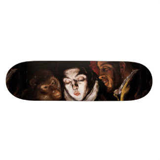 Allegory with Boy Lighting Candle by El Greco Skateboard Deck