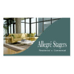 Allegré Stagers Home Staging Interior Design Business Card Templates