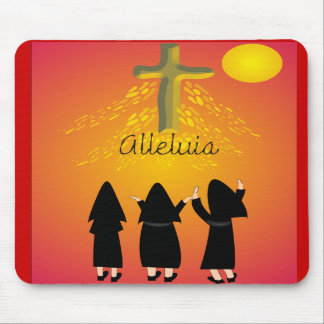 """Alleluia"" Catholic Religious Gifts Mousepads"