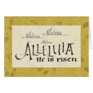Alleluia Easter Card