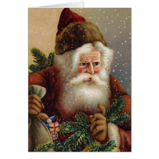 Allemand vintage Père Noël de carte de Noël
