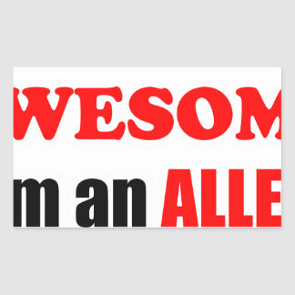 Allen Awesome Family Rectangular Stickers