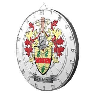 Allen Coat of Arms Dartboard