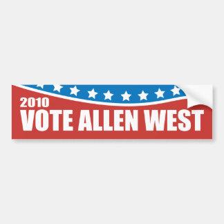 Allen West 2010 Bumper Sticker