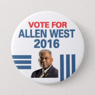 Allen West for President 2016 3 Inch Round Button