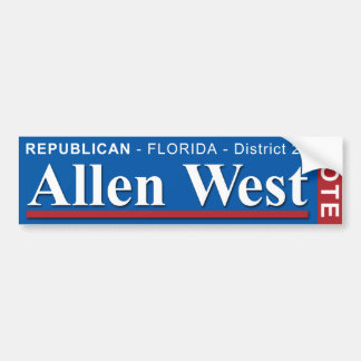 Allen West For US Congress 2010 Bumper Sticker