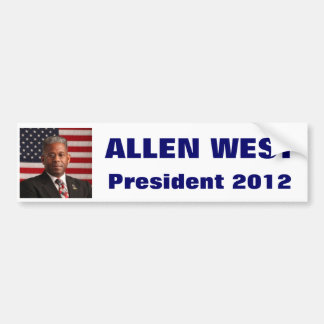 ALLEN WEST President 2012 Bumper Sticker