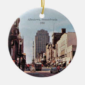 Allentown, Pennsylvania 1950 Round Ceramic Ornament