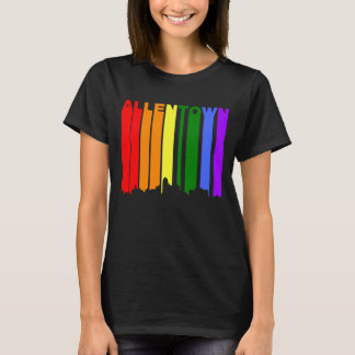 Allentown Pennsylvania Gay Pride Rainbow Skyline T-Shirt