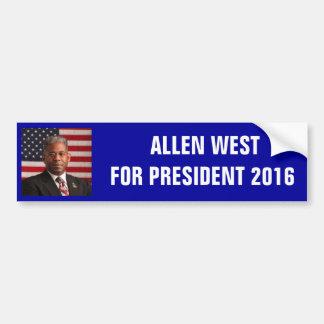 AllenWest_flag.jpeg,  ALLEN WESTFOR PRESIDENT 2... Bumper Sticker